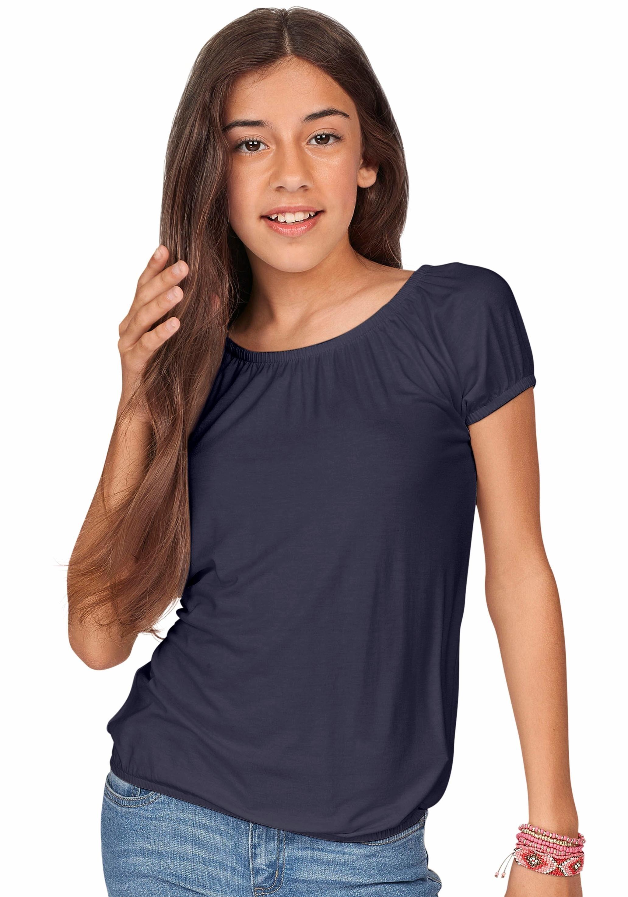 Arizona shirt met carmenhals met elastische randen bij OTTO online kopen