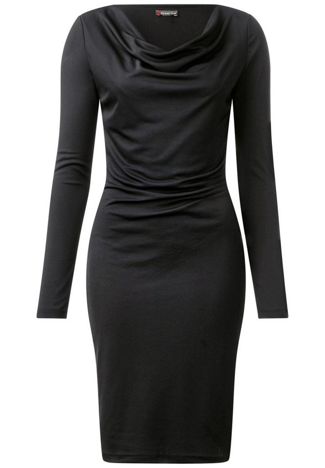 Street One jurk met plooien zwart