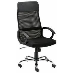 bureaustoel »kirsten« met ventilerende stof achter zwart