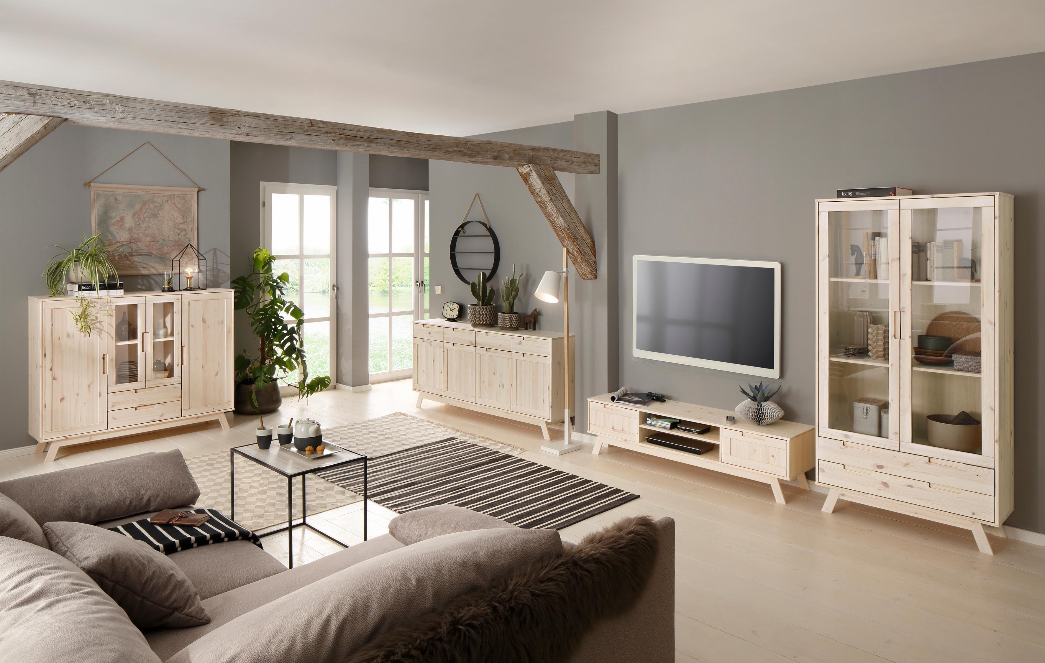 Home affaire tv-meubel »Ohio«, in traditioneel design, met vele opbergmogelijkheden, breedte 150 cm veilig op otto.nl kopen
