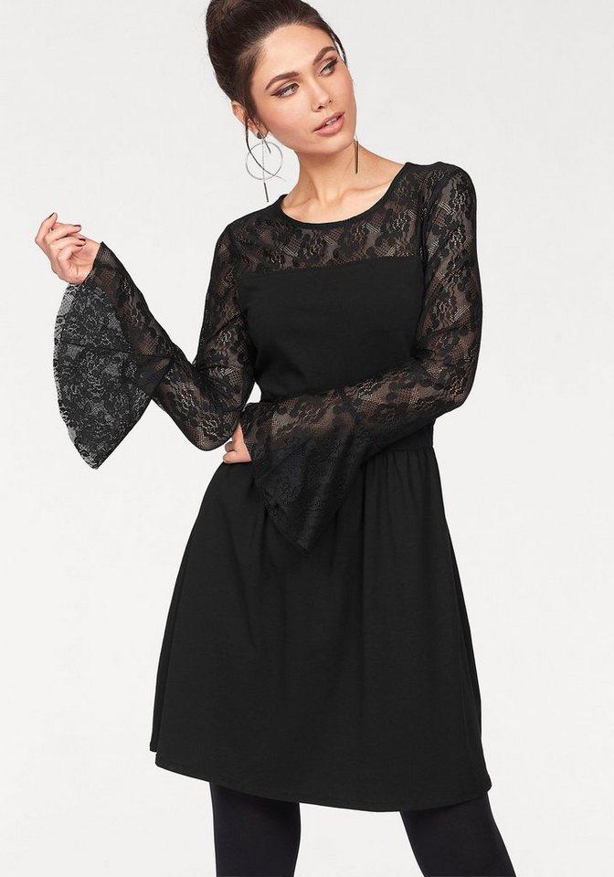 ONLY kanten jurk NIELLA zwart