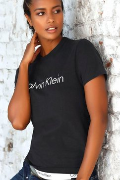 calvin klein t-shirt met grote logoprint zwart