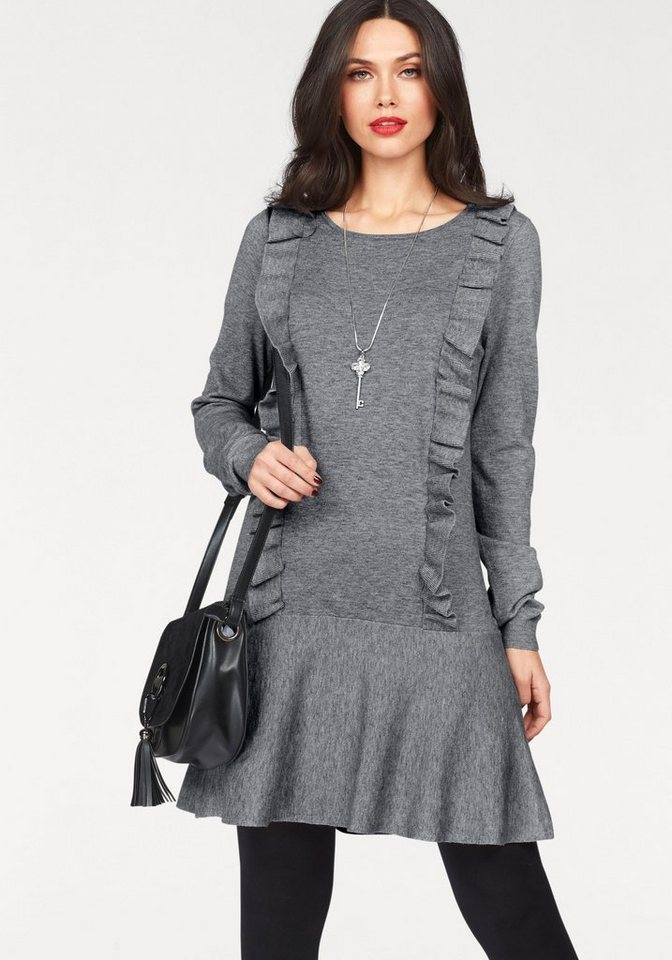 Vero Moda tricotjurk HELENA grijs