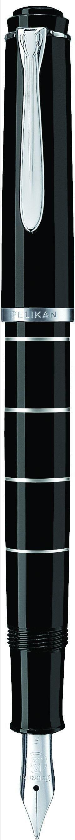 Pelikan vulpen, »Classic M 215, zwart/zilverkleur ringen, edelstalen veer, veerbreedte M« - verschillende betaalmethodes