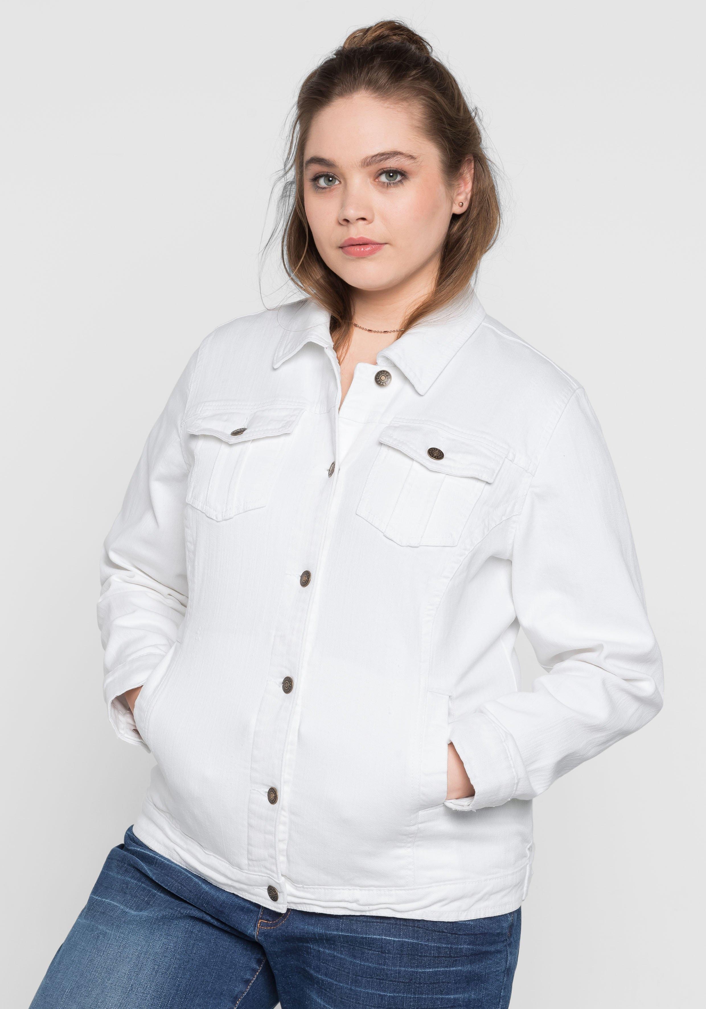 Sheego Denim sheego Denim jeansjack in klassieke stijl in de webshop van OTTO kopen