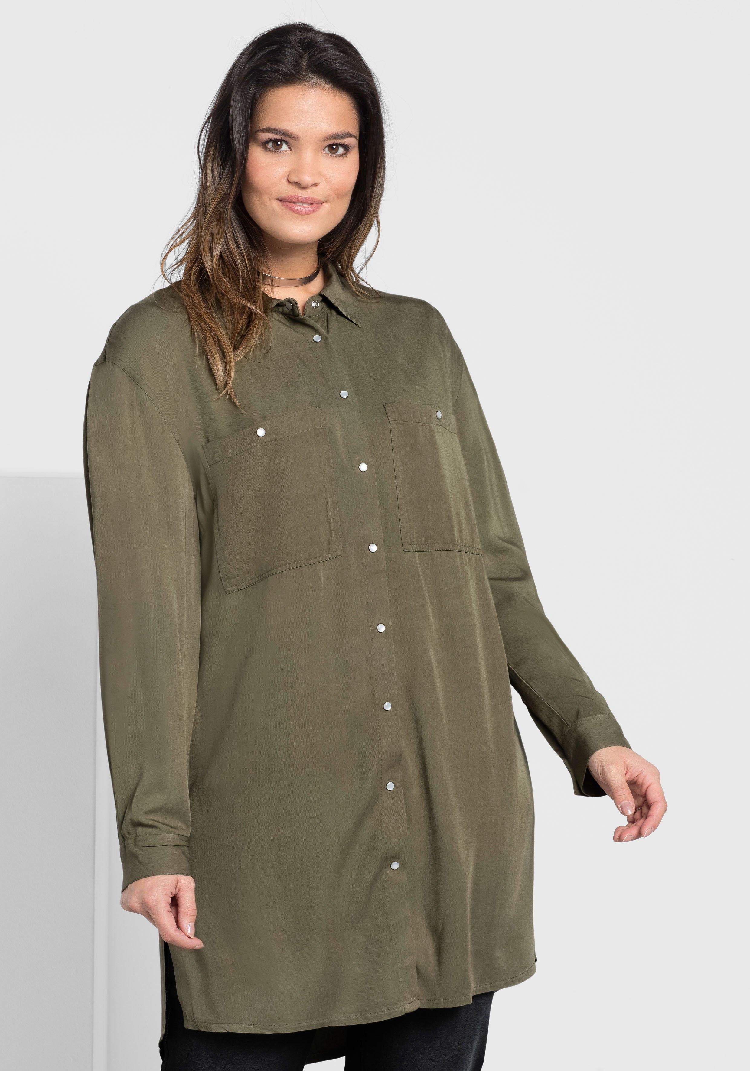 lange blouse groen