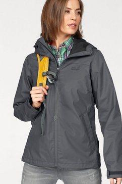 jack wolfskin jack essential storm jacket grijs