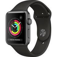 apple watch series 3 gps, aluminium kast met sportbandje 42 mm inclusief oplaadstation (magnetische oplaadkabel) grijs