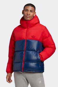 adidas originals outdoorjack »down regen hooded blocked puffer jacke« rood