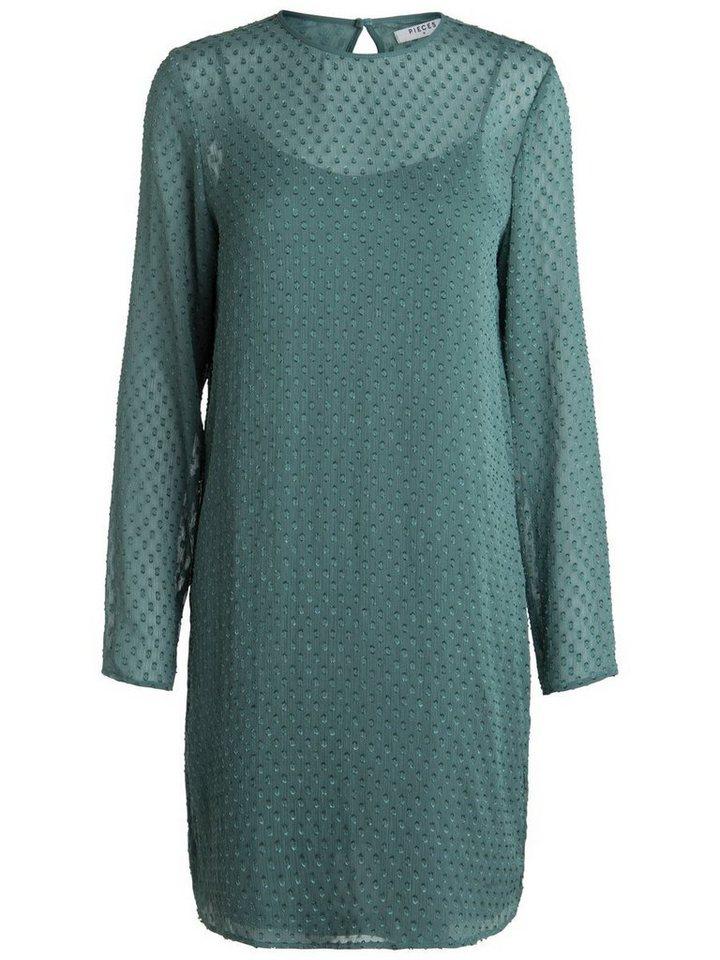 Pieces Gedetailleerde jurk grijs