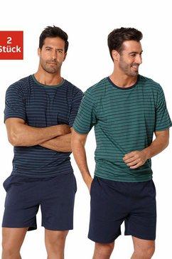le jogger pyjama kort, in streepdesign (2-delig, set van 2) multicolor