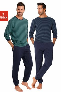 le jogger pyjama lang, in streepdesign (set van 2) multicolor