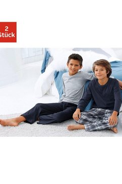 le jogger pyjama, lang (set van 2) multicolor