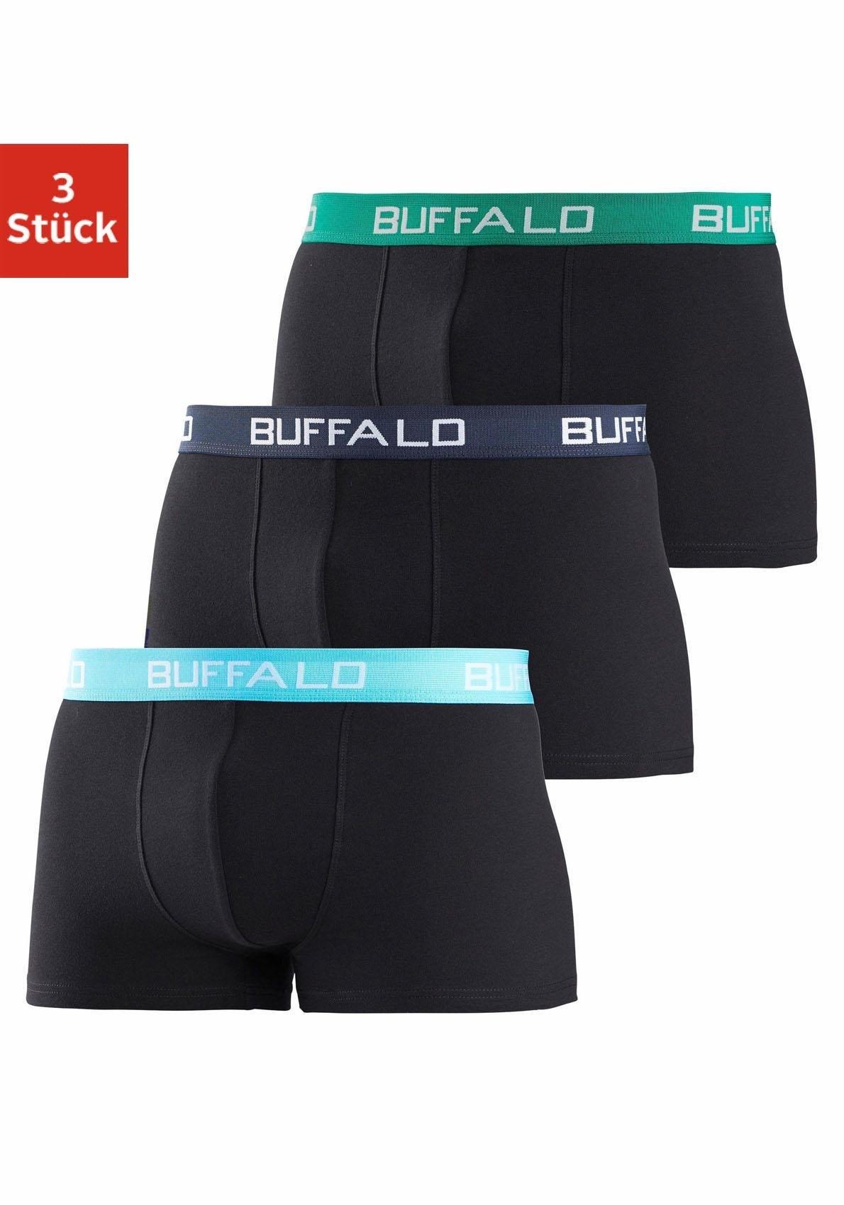 Buffalo boxershort met contrastkleurige boord (3 stuks) bij OTTO online kopen