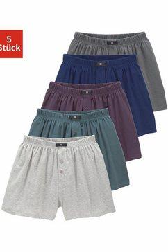 h.i.s wijde boxershort van katoen-stretch (5 stuks) multicolor