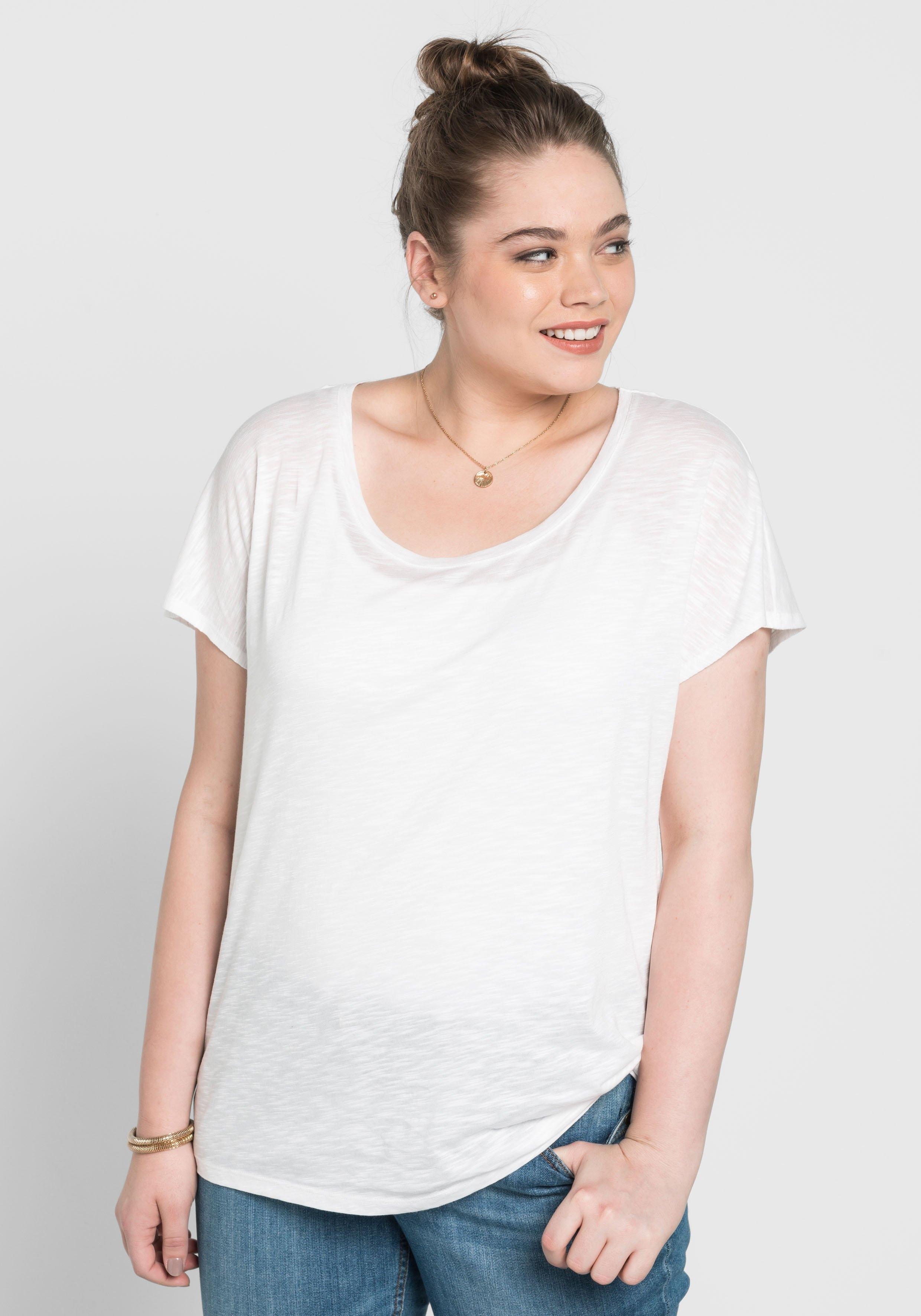 Sheego Basic oversized shirt voordelig en veilig online kopen