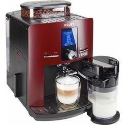 krups volautomatisch koffiezetapparaat ea829g latt'espress quattro force, geïntegreerd melkreservoir rood