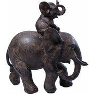 kare decoratief figuur »elefant« zwart