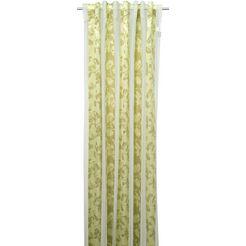 gordijn, »juliette«, linne, verdekte lussen, per stuk groen