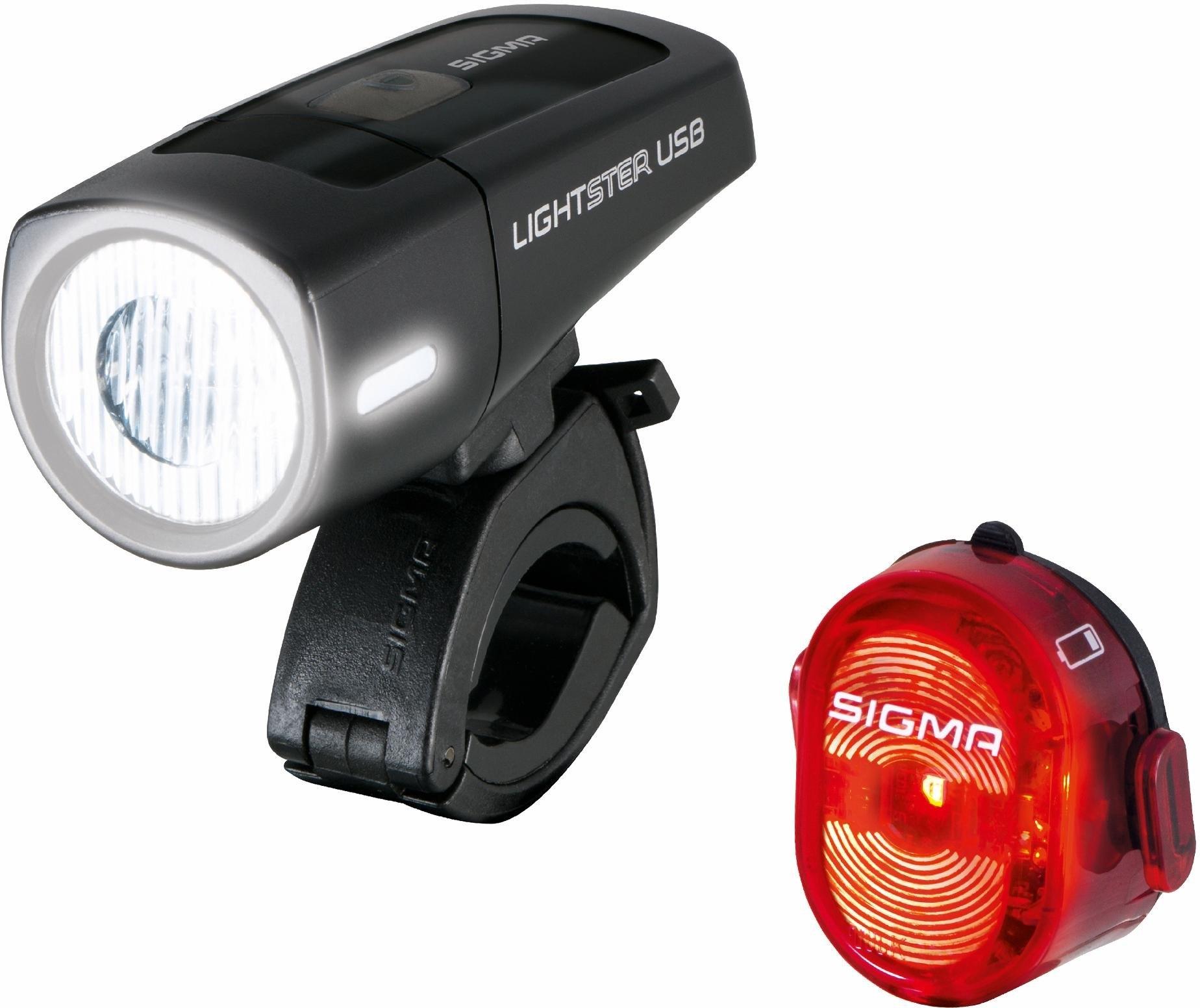 Sigma Set: fietsverlichting zwart/rood, »LIGHTSTER USB / NUGGET II K ...