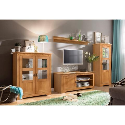 HOME AFFAIRE 3-delig wandmeubel Laura, met 1 vitrinekast, 1 TV-meubel en 1 highboard