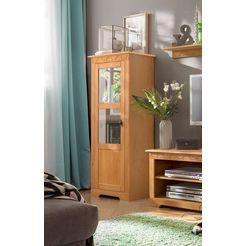 home affaire vitrinekast »laura« klein, hoogte 140 cm beige