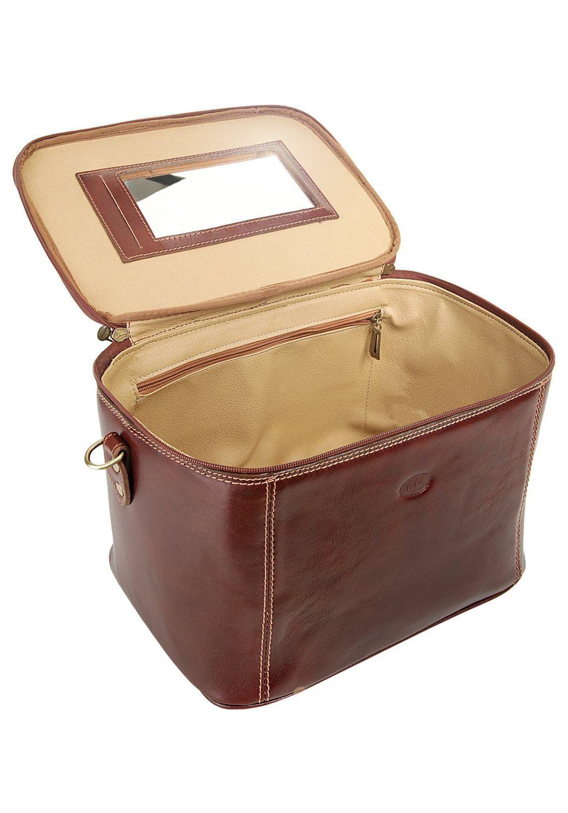 piké Beauty-Case makkelijk gevonden  bruin