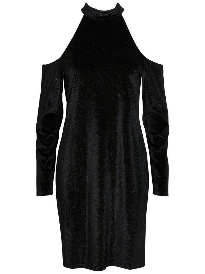Pieces Velours jurk zwart