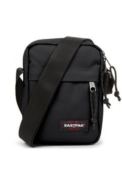 eastpak schoudertas the one, black bevat gerecycled materiaal (global recycled standard) zwart