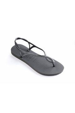havaianas sandalen luna met fijne riempjes in vlecht-look grijs