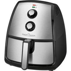 profi cook airfryer pc-fr 1115 h, 1500 w, inhoud 3,5 liter zwart