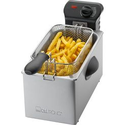clatronic friteuse fr 3587, 2000 w, inhoud 3 liter zilver