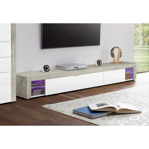 Tv-meubel Bilbao, breedte 195 cm met 2 kleppen