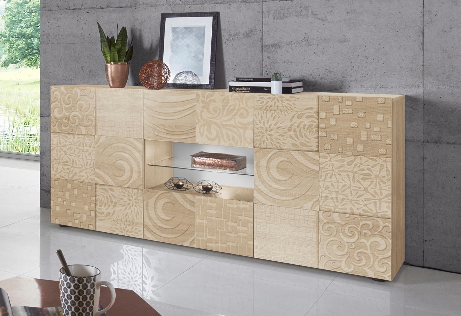 Lc »Miro« dressoir, breedte 181 cm met decoratieve zeefdruk voordelig en veilig online kopen