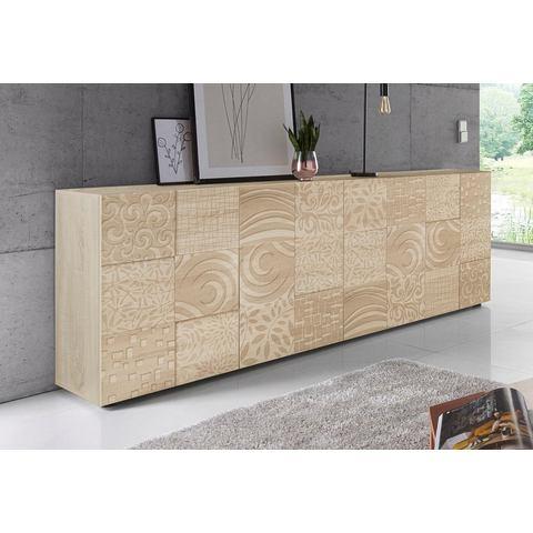 LC dressoir Miro Breedte 241 cm met decoratieve zeefdruk