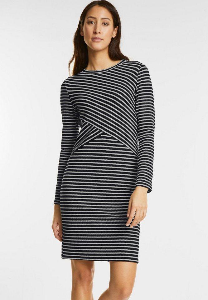 Street One jersey jurk in zwart-wit zwart