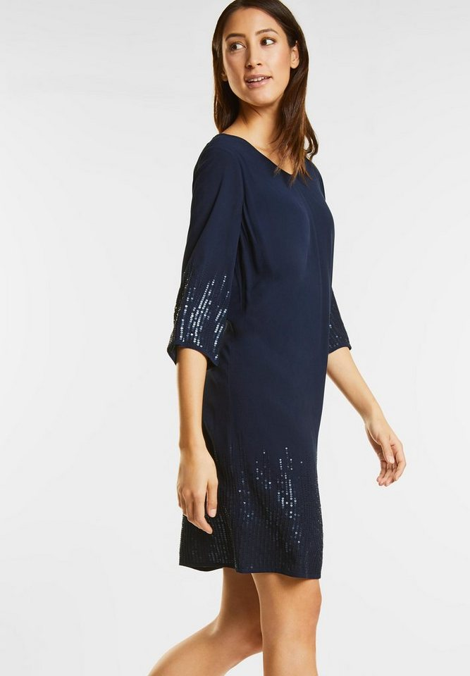 Street One jurk met pailletten blauw