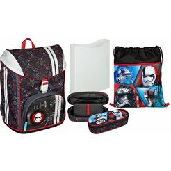 scooli schoolrugzak set 5-dlg., »flexmax star wars™« rood