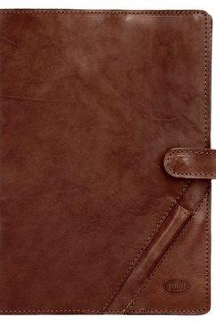 piké leren dagboek-notitieboekje »leonardo« bruin