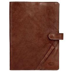 piké notitieboek buon viaggio elastisch bruin