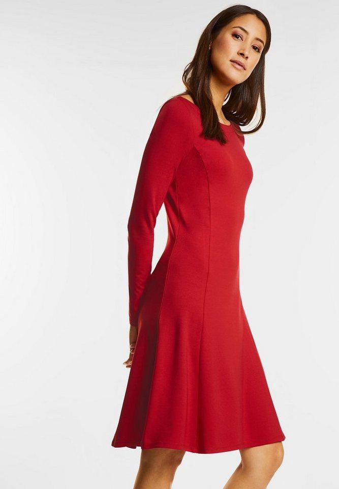 Street One Heavy jersey jurk rood