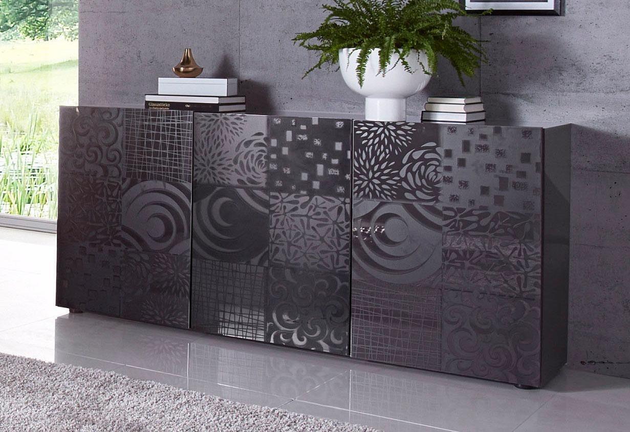 LC Miro dressoir, breedte 181 cm met decoratieve zeefdruk