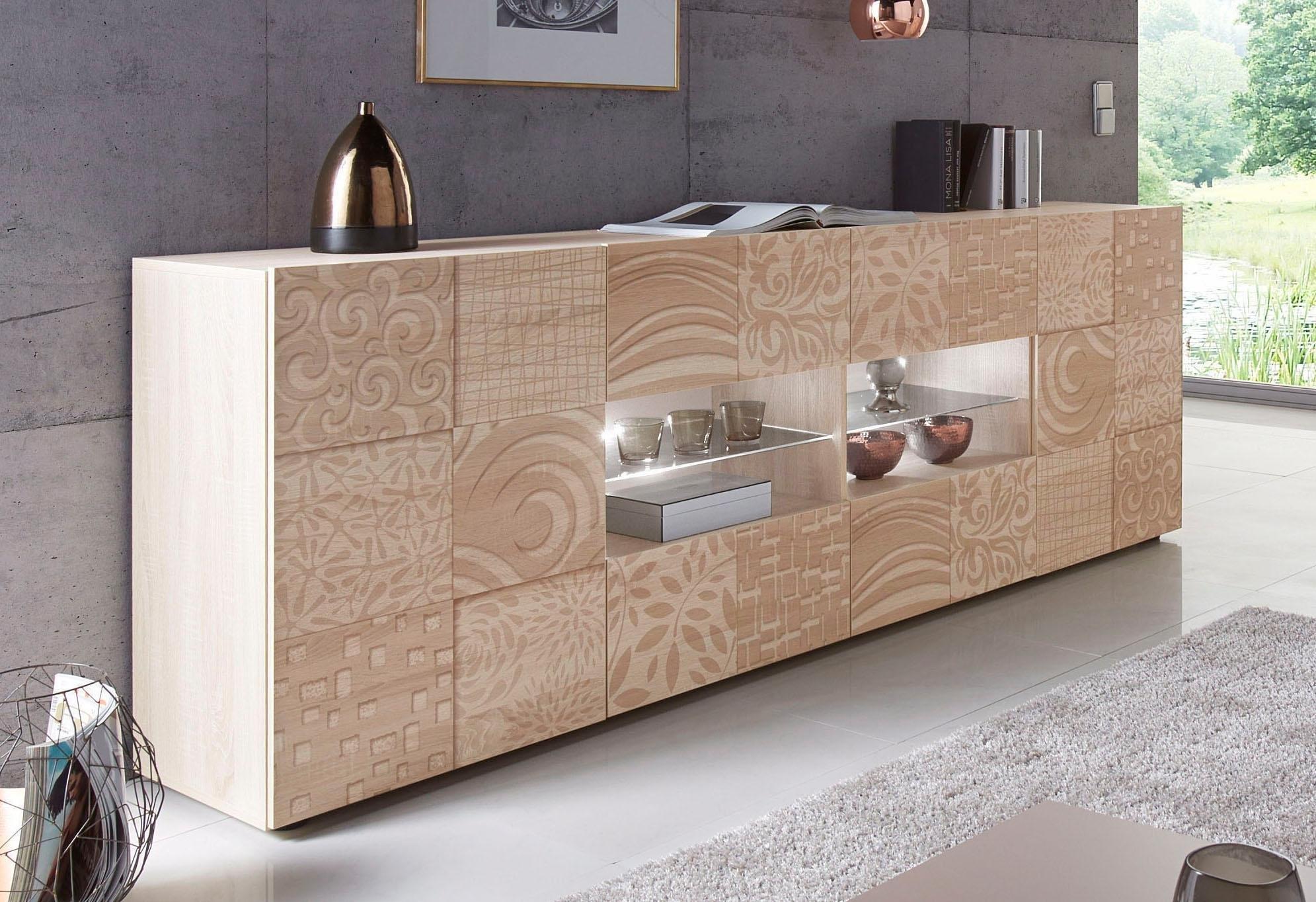 LC »Miro« dressoir, breedte 241 cm met decoratieve zeefdruk goedkoop op otto.nl kopen