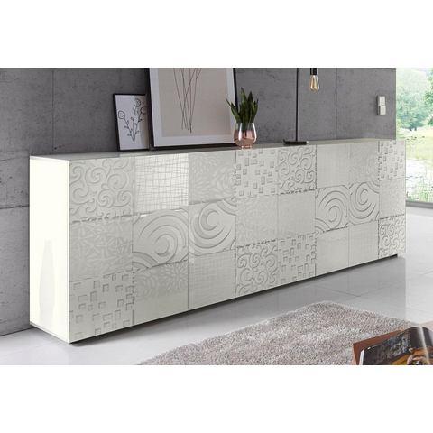 LC Miro dressoir, breedte 241 cm met decoratieve zeefdruk