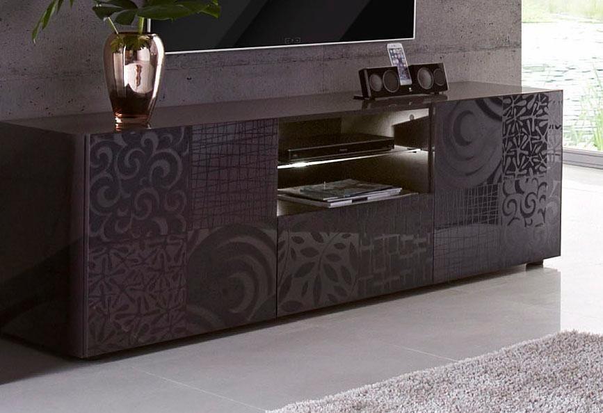 LC Miro tv-meubel, breedte 181 cm met decoratieve zeefdruk
