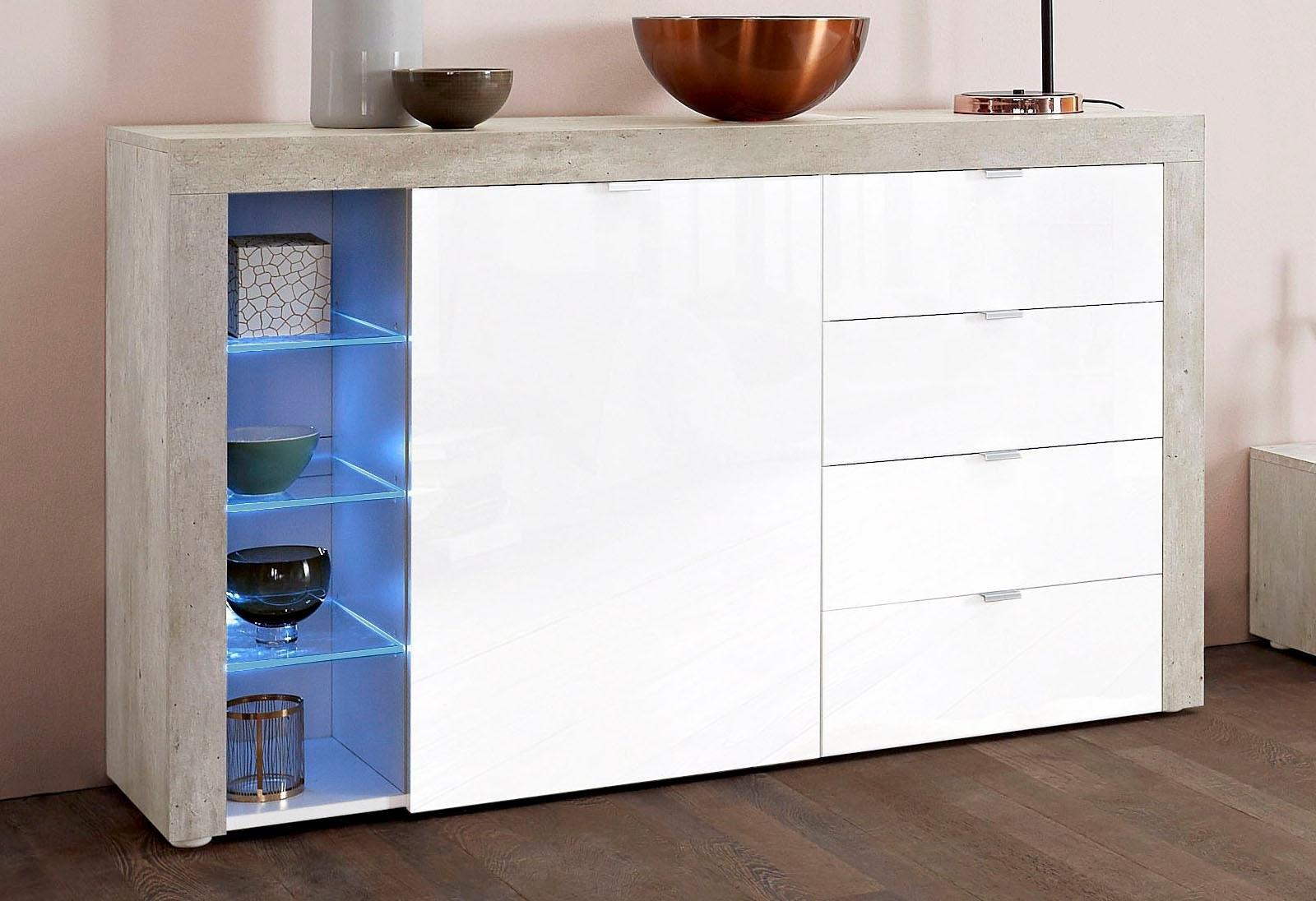 Borchardt Möbel Dressoir »Bilbao«, breedte 128 cm met 4 laden nu online bestellen