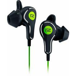 ready2music in-ear-hoofdtelefoon titanium micro usb-oplaadpoort groen