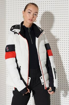superdry sport functioneel jack »alpine revive puffer« wit