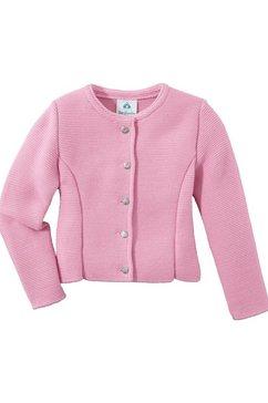 isar-trachten vest in folklorestijl voor kinderen in getailleerd model roze