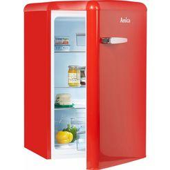 amica koelkast vks 15624 s, a++, 86 cm hoog rood